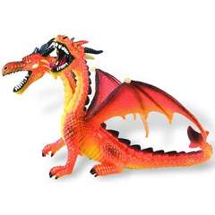 Dragon orange cu 2 capete 75598
