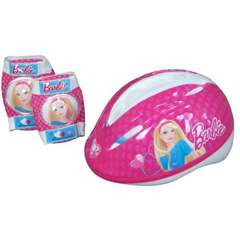 Set protectie Barbie (cotiere, genunchiere, casca)
