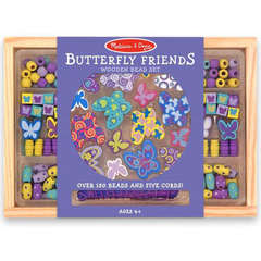 Set de margele din lemn Butterfly Friends
