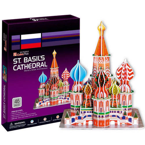 Puzzle 3d Catedrala Sf. Vasile Moscova (46 Piese)