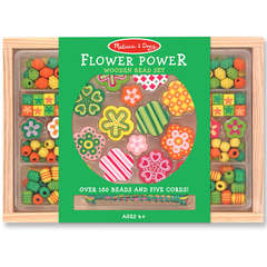 Set de margele din lemn Flower Power