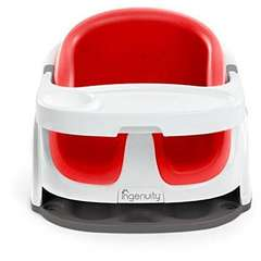 InGenuity – 10868-  Scaun de masa 2 in 1 NEW Poppy Red