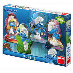 Dino Toys Puzzle 4 in 1 - Strumfii (54 piese)