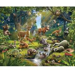 Walltastic Tapet pentru Copii Animals of the Forest