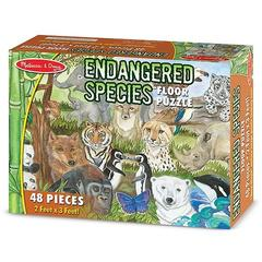 Puzzle de podea Animale protejate  Melissa and Doug