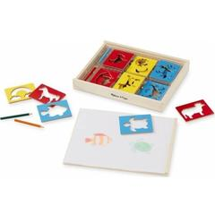 Melissa&Doug Sabloane din lemn Mix - Melissa and Doug