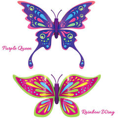Set 2 bucati Fluturasul magic Rainbow Wing si Purple Queen - Zuru Toys