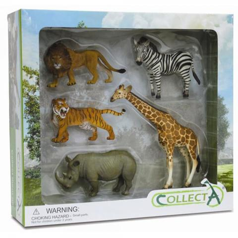 Collecta Set 5 figurine- Animale salbatice