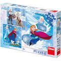 Dino Toys Puzzle 3 in 1 - Frozen (3 x 55 piese)