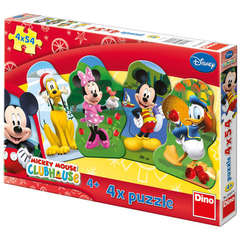Puzzle 4 in 1 - Clubul lui Mickey Mouse (54 piese)