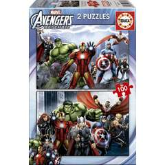 Puzzle Avengers 2 x 100 piese
