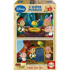 Puzzle Jake and the Neverland Pirates 2 x 25 piese