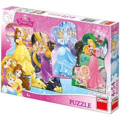 Puzzle 4 in 1 - Printese jucause (54 piese)