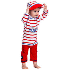 Costum de baie SeaLife red marime 98- 104 protectie UV