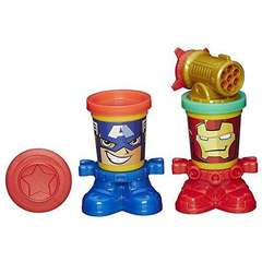Plastilina Play-Doh Marvel Capitanul America si Iron Man