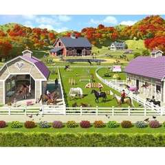 Tapet pentru Copii Horse and Pony Stables